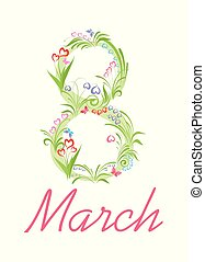 Bouquet with beautiful spring flowers for 8 March