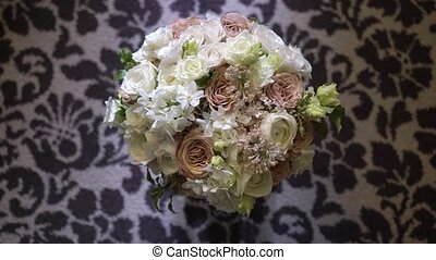 Bouquet with white and pink flowers
