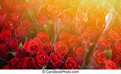 Bouquets of beautiful roses