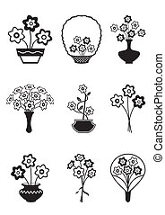 Bouquets of flowers - vector illustration