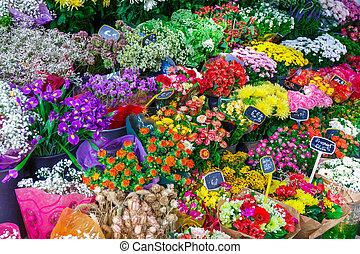 Bouquets of flowers in Paris