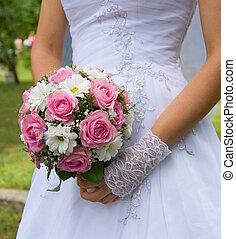 bouquetten, bloemen, trouwfeest
