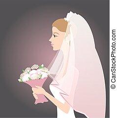 bouquetten, bruid