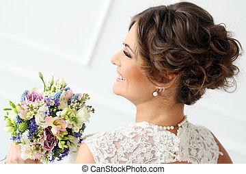 bouquetten, bruid, wedding.