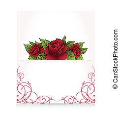 bouquetten, rozen, romantische, brief