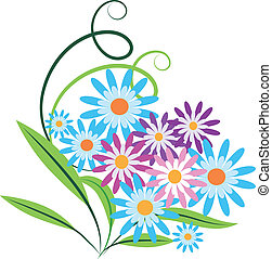 bouquetten, van, lentebloemen