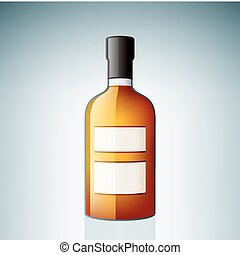 Bourbon Bottle (part of the Alcohol Glass Icons Set)