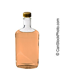 Bourbon Isolated - A close up on a bottle of Tequila ...