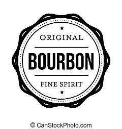 Bourbon vintage stamp sign vector
