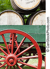 Bourbon wagon - Fragment of an antique wagon with bourbon ...