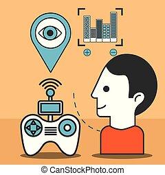 bourdon, technologie, futuriste
