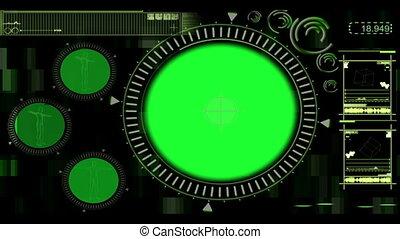 bourdonnement, interface, numérique, tourner