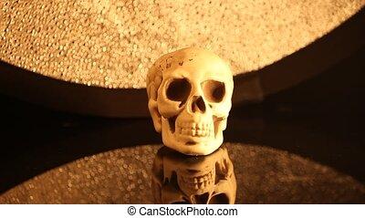 bourdonner, tête, crâne humain