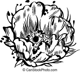 Isoler illustration fond jaune blanc dessin bourgeon - Dessin bourgeon ...