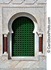 Bourguiba in monastir - a window in the Bourguiba mausoleo ...