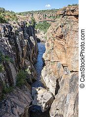 bourkes, 川, アフリカ, 南, つぼ穴
