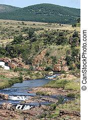 bourkes, 滝, アフリカ, 南, つぼ穴