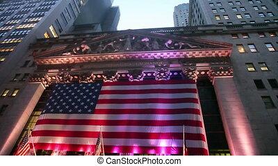 bourse new york, inclinaison
