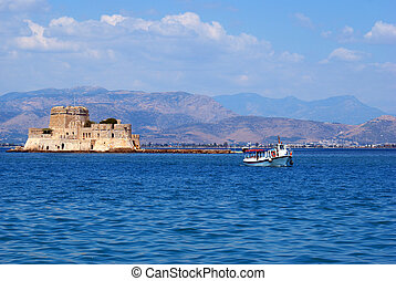 Bourtzi fortress at Nafplio city in south Greece