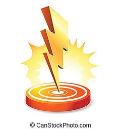 bout, machtig, lightning