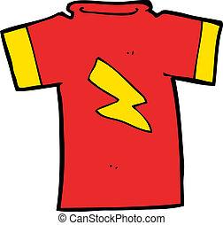 bout, t hemd, spotprent, lightning