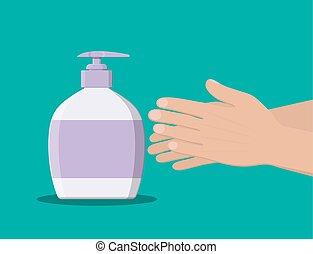 liquide shampoing ou douche bouteille savon gel clip art vectoriel rechercher des. Black Bedroom Furniture Sets. Home Design Ideas