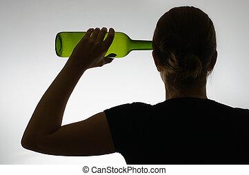 bouteille, alcoolique