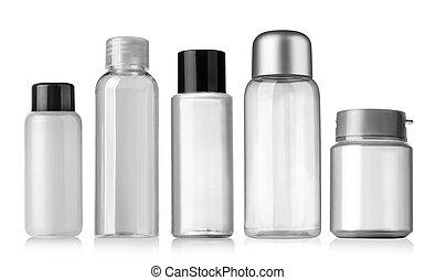 bouteille, blanc, récipient