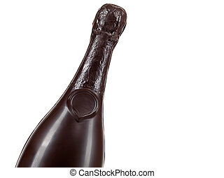 bouteille champagne, chocolat
