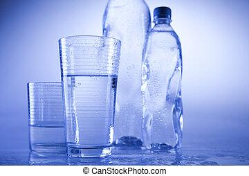 bouteille eau, fond