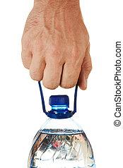 bouteille eau, main