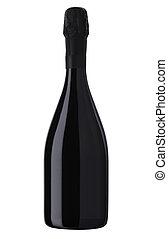bouteille, fond, isolé, étincelant, bouteille, blanc,...