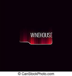 bouteille, résumé, fond, illustration, vin