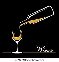 bouteille verre, vin