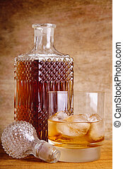 bouteille verre, whisky