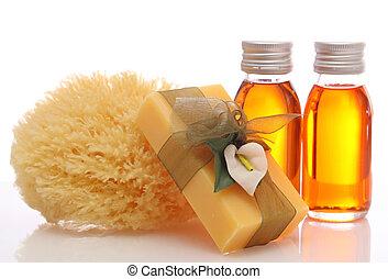 bouteilles, à, huiles essentielles