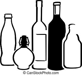 bouteilles, alcool