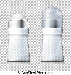bouteilles, désodorisant, réaliste, vecteur, transparent, 3d