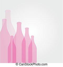 bouteilles, fond