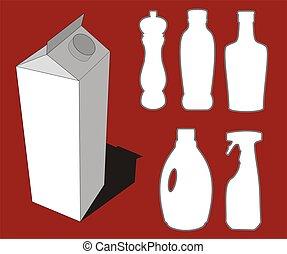 bouteilles, illustration
