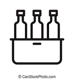 bouteilles, plateau
