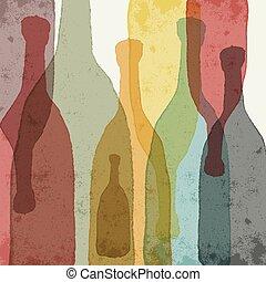 bouteilles verre, coloré