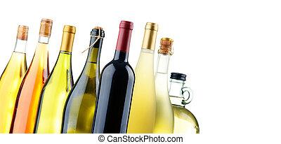 bouteilles vin, composition, assorti