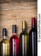 bouteilles vin, différent