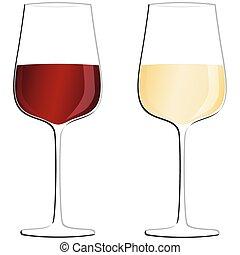 bouteilles vin, lunettes