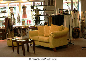 Boutique - A nice comfy sofa to relax in a boutique