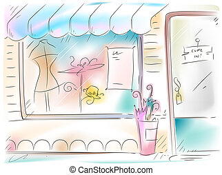 Boutique - Botique Illustration
