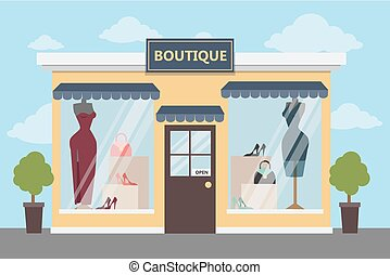Boutique clothing store. - Boutique clothing store outdoors...