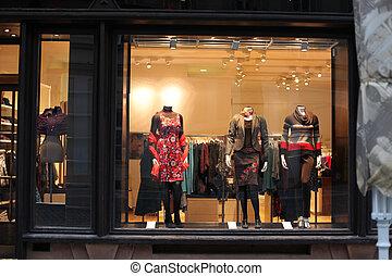 boutique, finestra