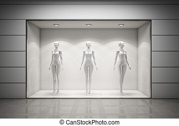 boutique, fremvisning vindue